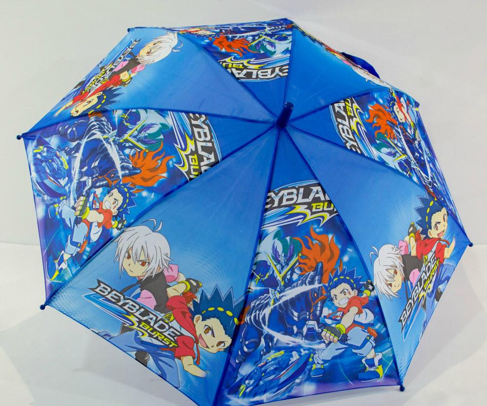 Детский зонт трость полуавтомат beyblade бейблейд для мальчика 4-8 фото №1