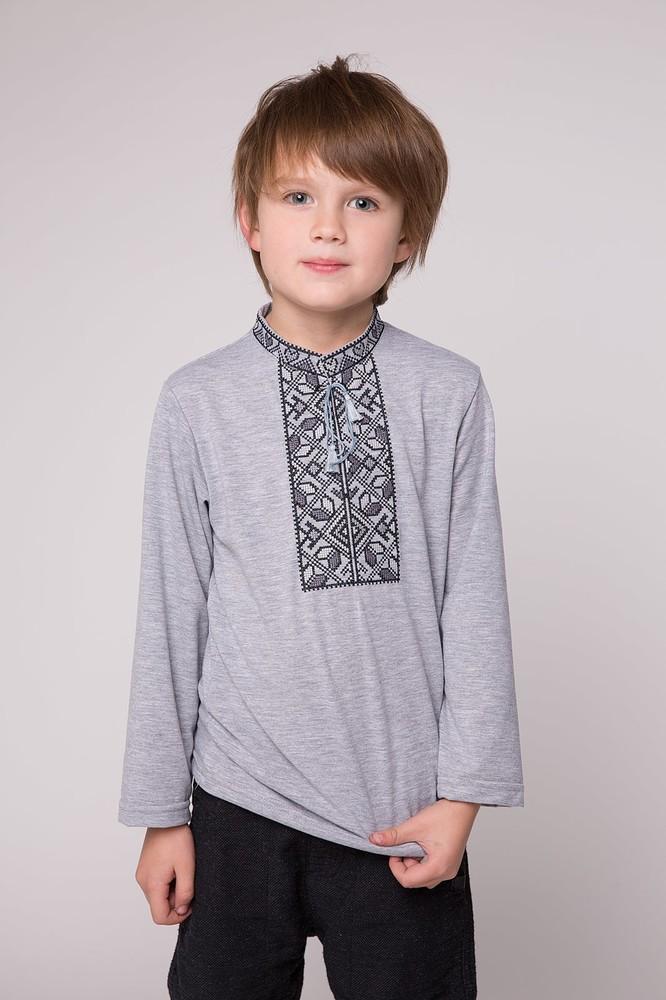 Р-р 92-152, сорочка , трикотажная вышиванка , вишиванка хлопчача фото №1