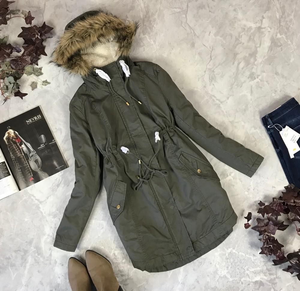 Трендовая куртка парка с меховым капюшоном   ov 1920191 фото №1