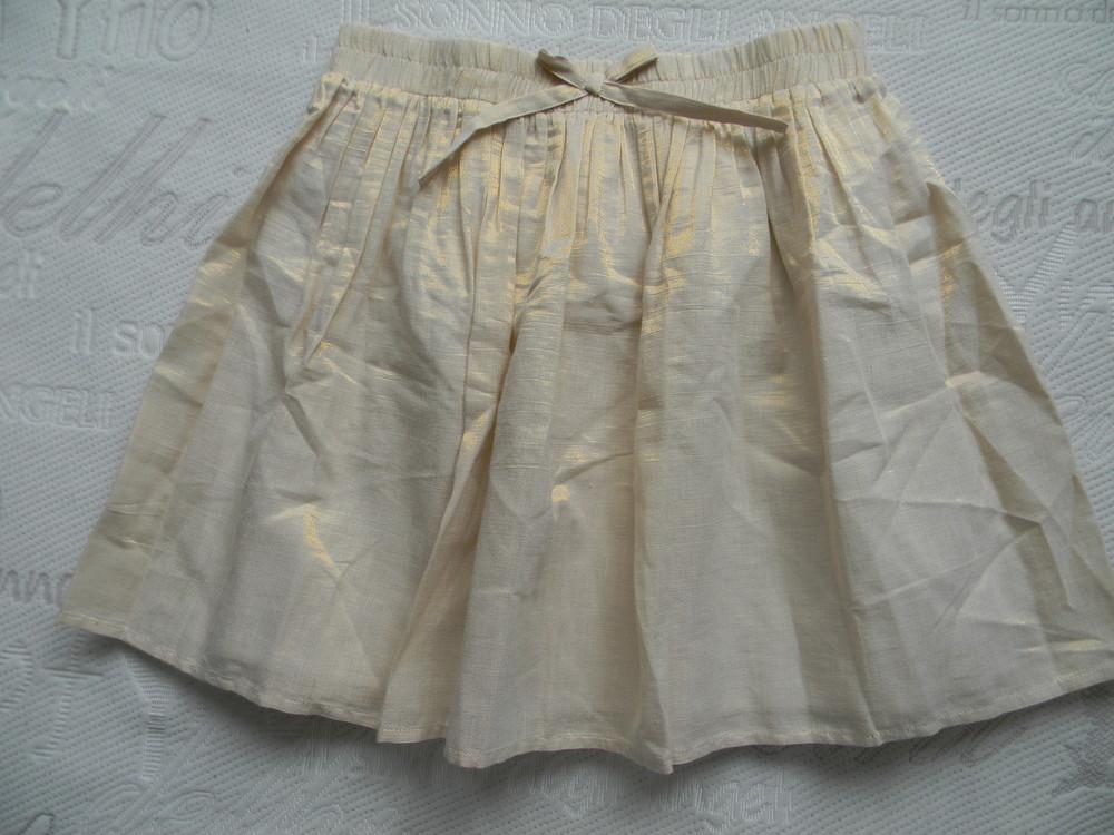 золотистая нарядная юбка next на 13-14 лет. фото №1