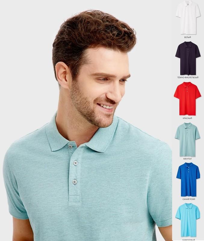 Мужская футболка поло с воротником 100% хлопок бангладеш фото №1