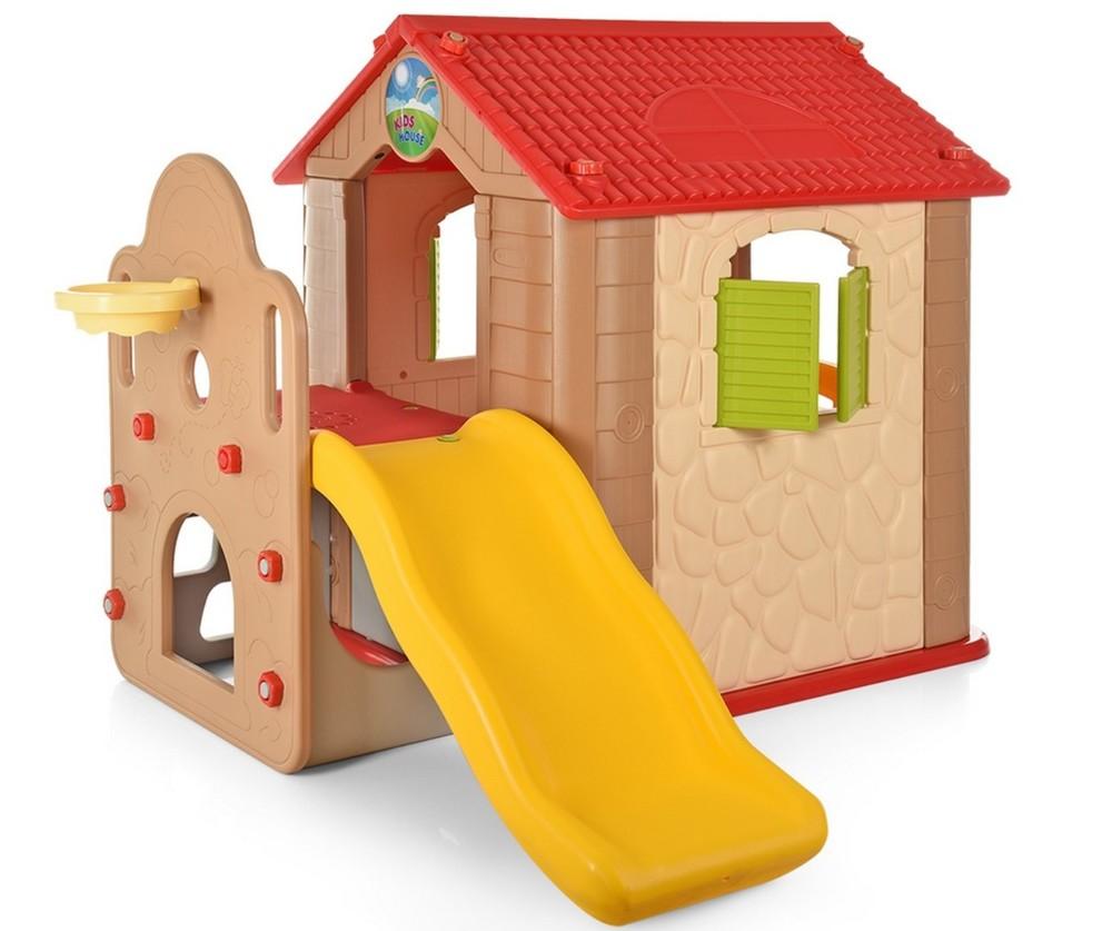 Игровой детский домик с горкой м 5399 фото №1