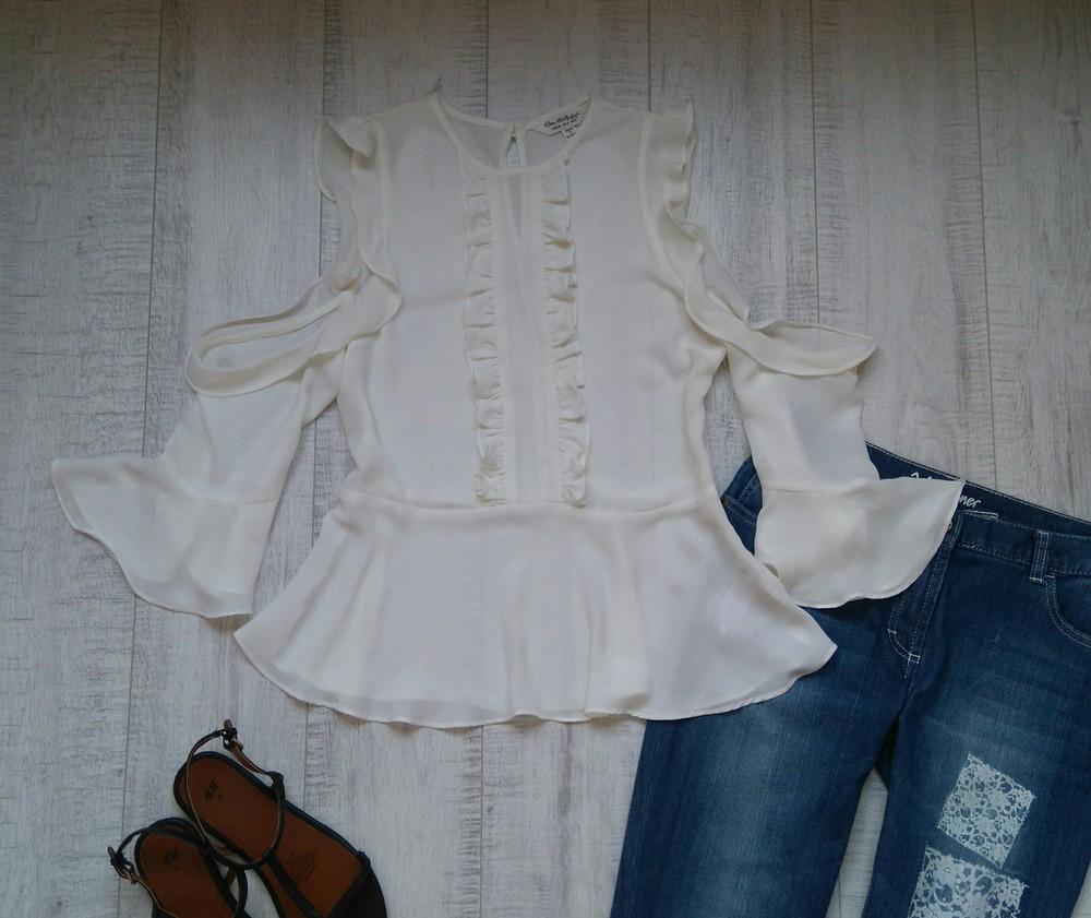 Нарядная блуза с воланами miss selfridge 36 р фото №1