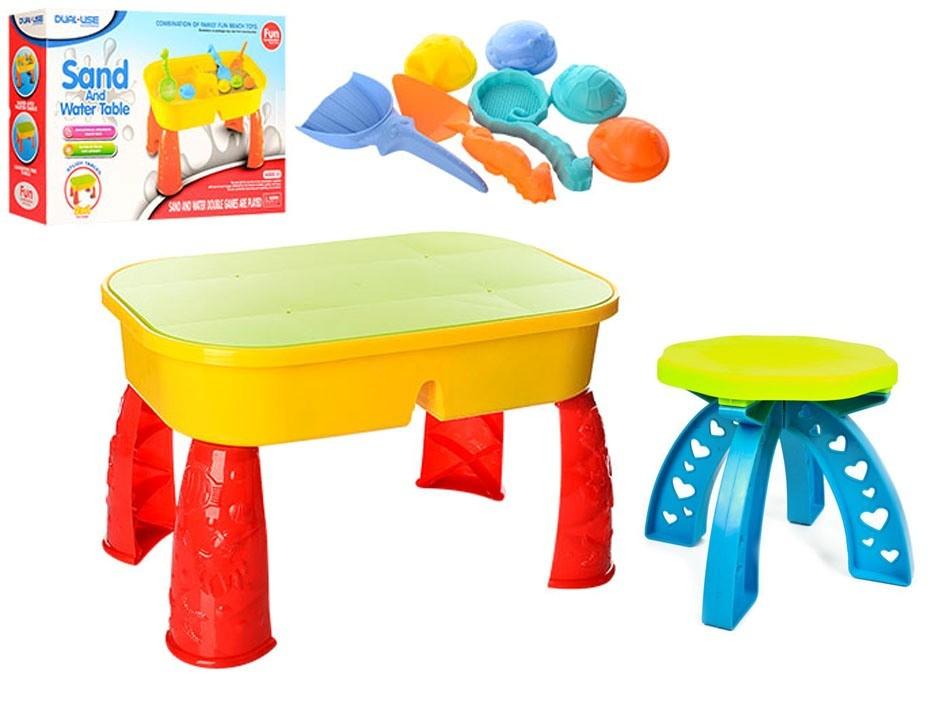 Столик-песочница со стульчиком для игр с песком и водой 2 в 1 фото №1