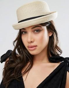 13-123 шляпа котелок женская летняя от солнца шляпка панамка пляжная фото №1