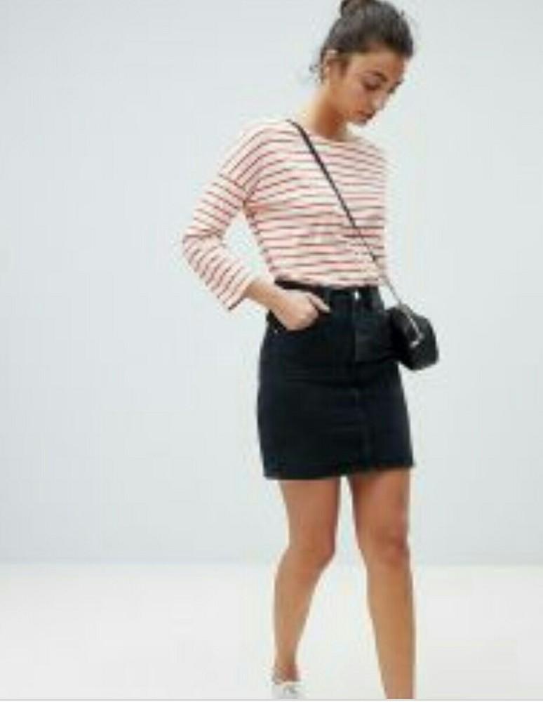 Черная катоновая юбка для девочек фото №1
