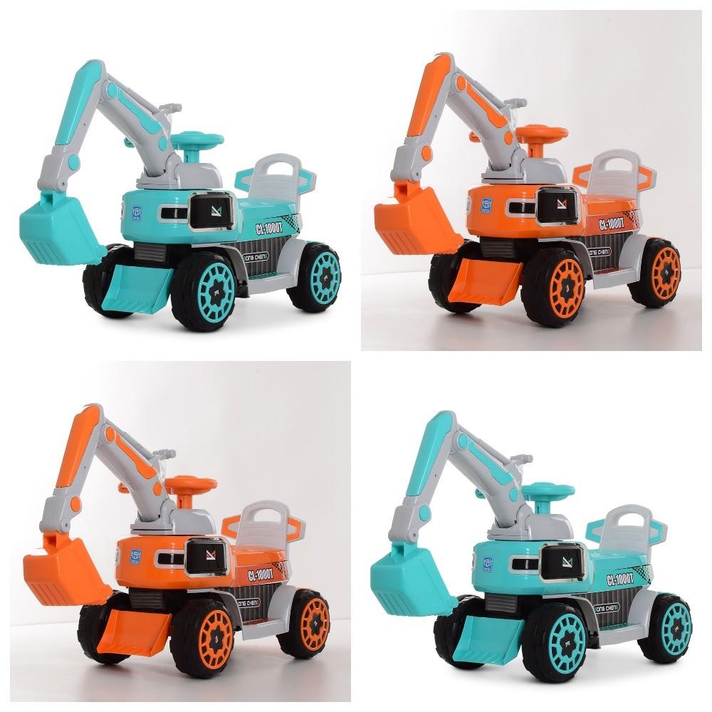Детский электромобиль-толокар m 4068r, 2в1,  мелодии, багажник фото №1