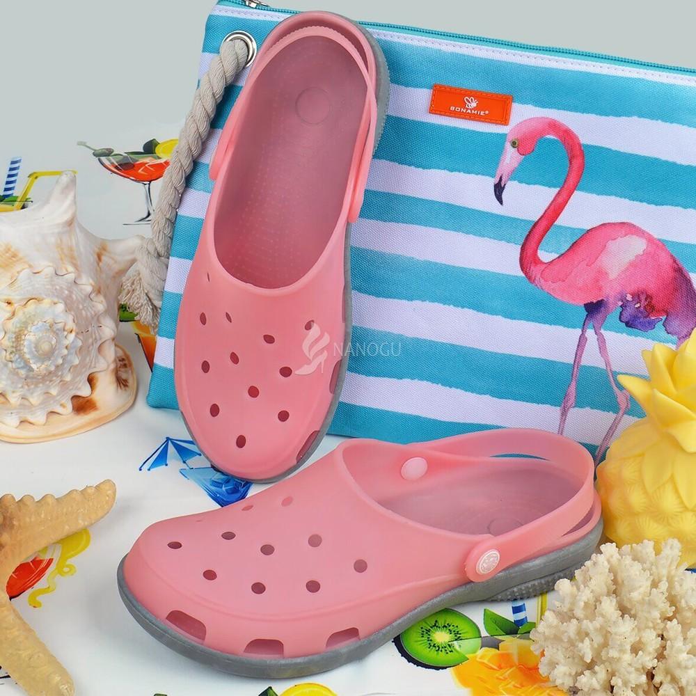 Сабо женские кроксы пудровые pink clogs силиконовые влагостойкие фото №1