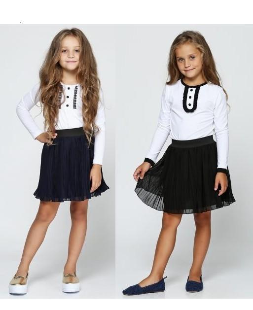 Красивая гипюровая юбка для школы. фото №1
