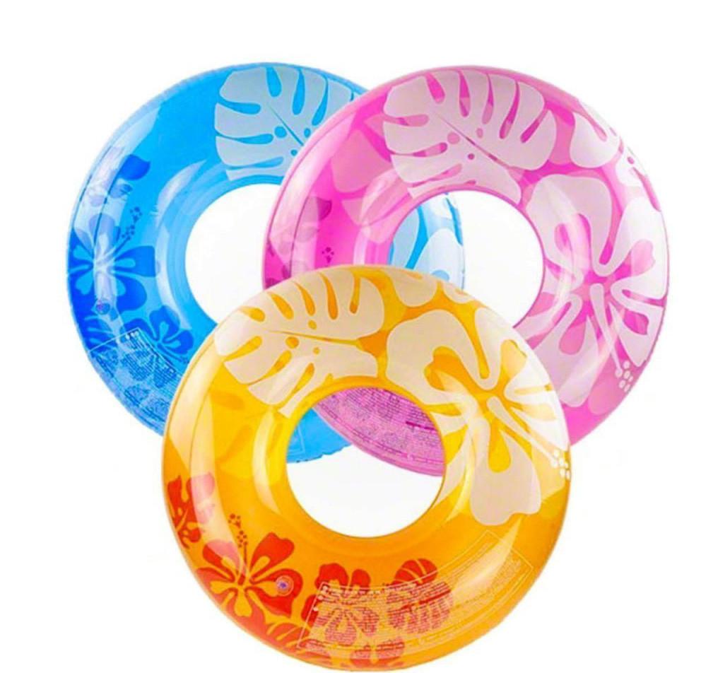 Надувной круг intex 59251 цветы, 91 см, 3 цвета фото №1