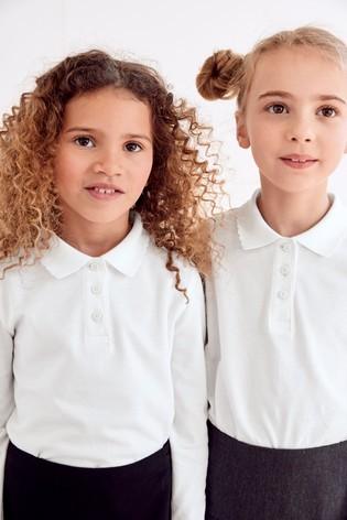Рубашки поло на довгий рукав next для дівчат розм. 3-16 р. під замовлення фото №1