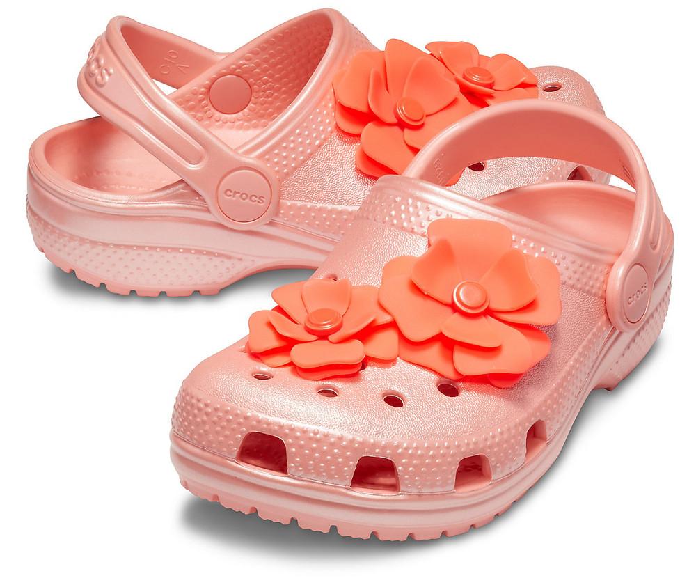Детские сабо crocs vivid blooms clog, р-ры с10, с11 фото №1