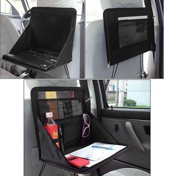 Органайзер автомобильный на спинку заднего сидения с откидным столиком фото №1