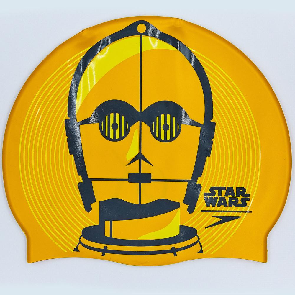 Шапочка для плавания slogan print star wars 85c797: силикон, желто-оранжевый фото №1