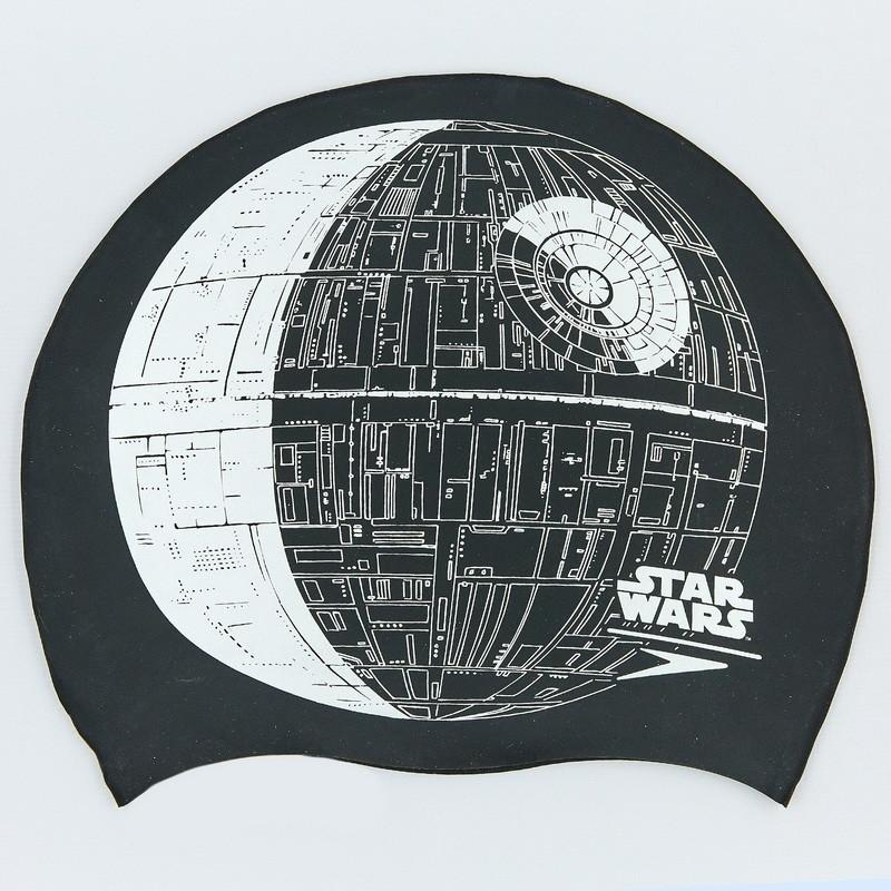 Шапочка для плавания star wars death star 85c852: силикон, черный фото №1