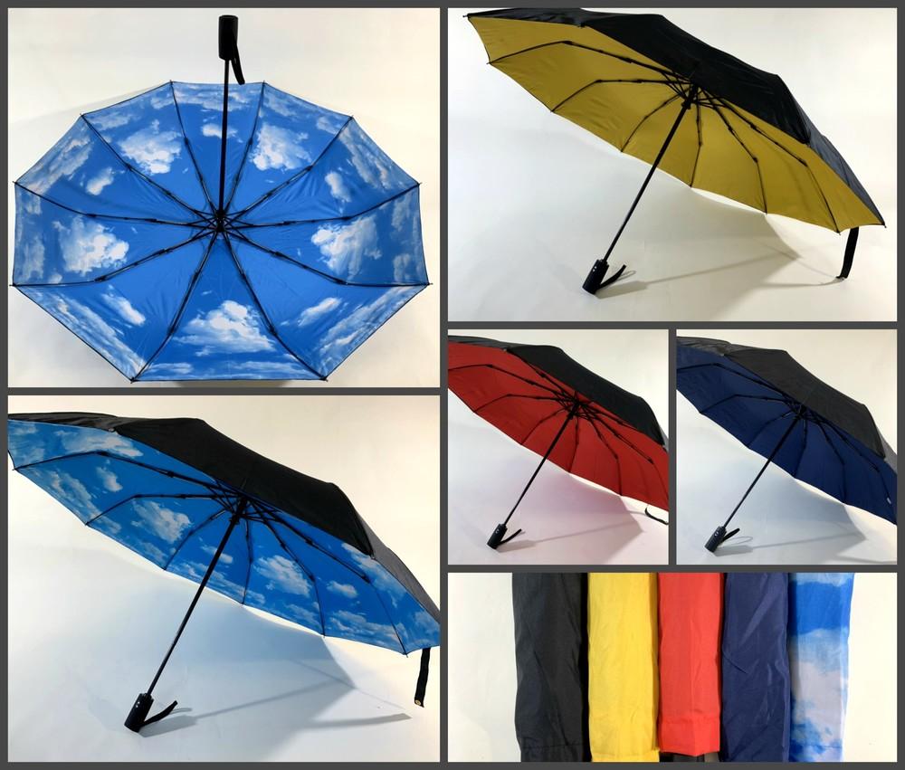 Крепкий большой женский зонт автомат антиветер двойной купол 106 см фото №1