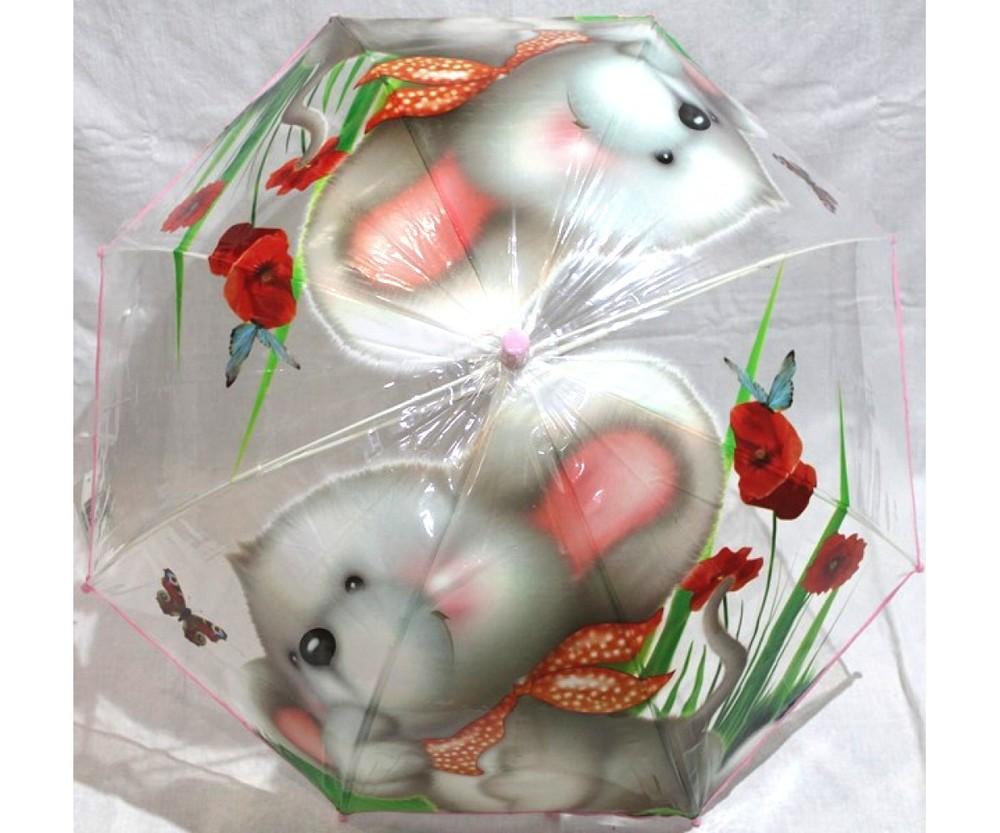 Зонт детский полуавтомат трость фото №1