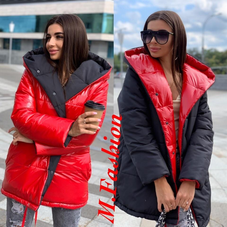 Двухсторонняя куртка зефирка ал-095 фото №1