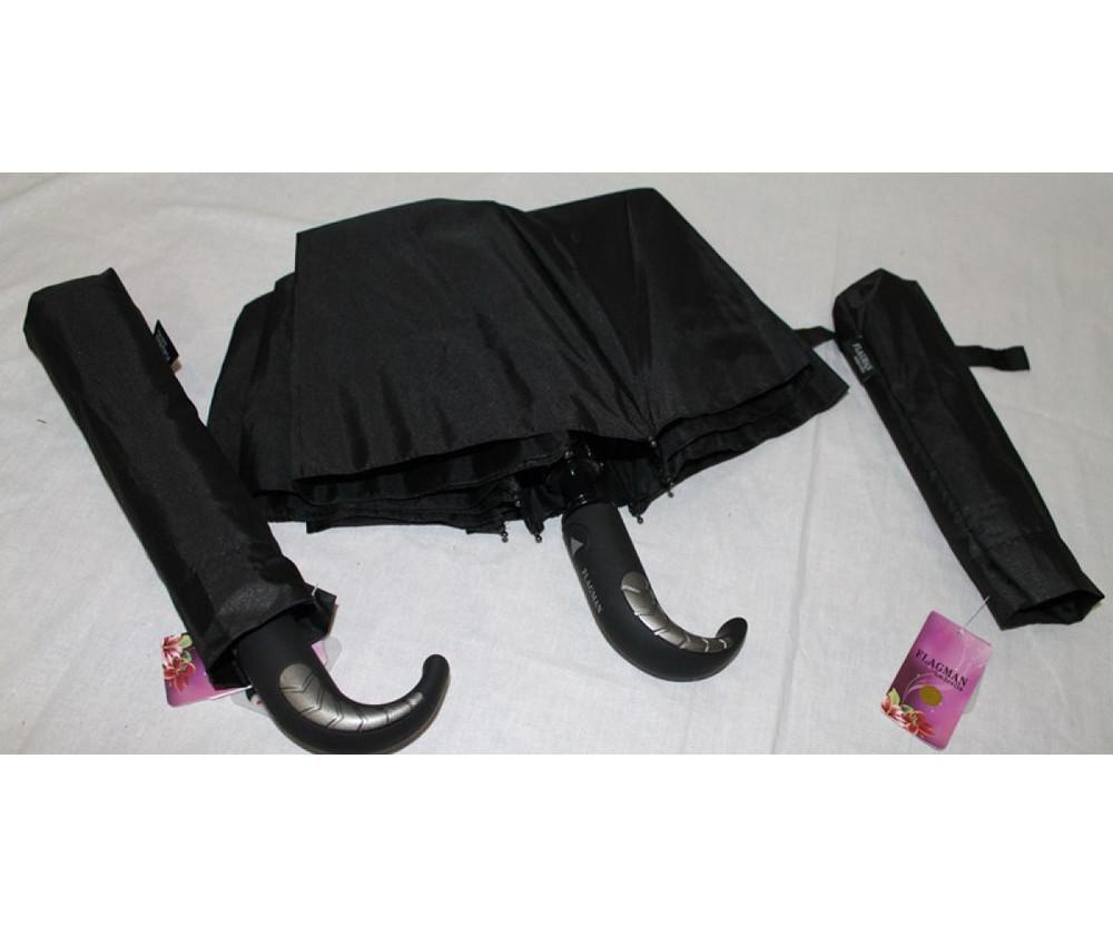 Мужской зонт полуавтомат в три сложения. венгрия. фото №1