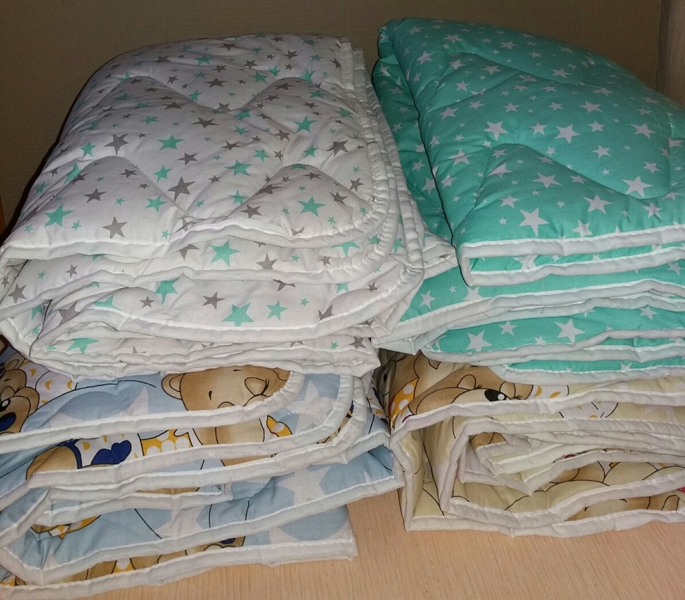 Детское стёганное шерстяное одеяло фото №1