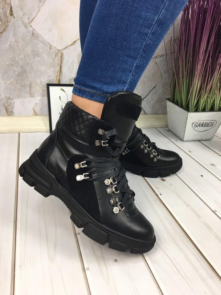 Скидка женские кожаные спортивные ботинки фото №1