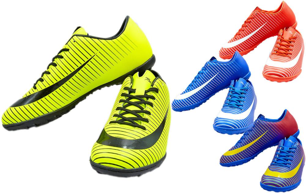 Обувь футбольная сороконожки 17562 (многошиповки): размер 40-45 (4 цвета) фото №1