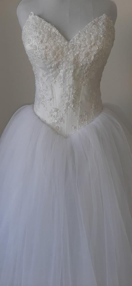 Красивое свадебное платье принцесса фото №1