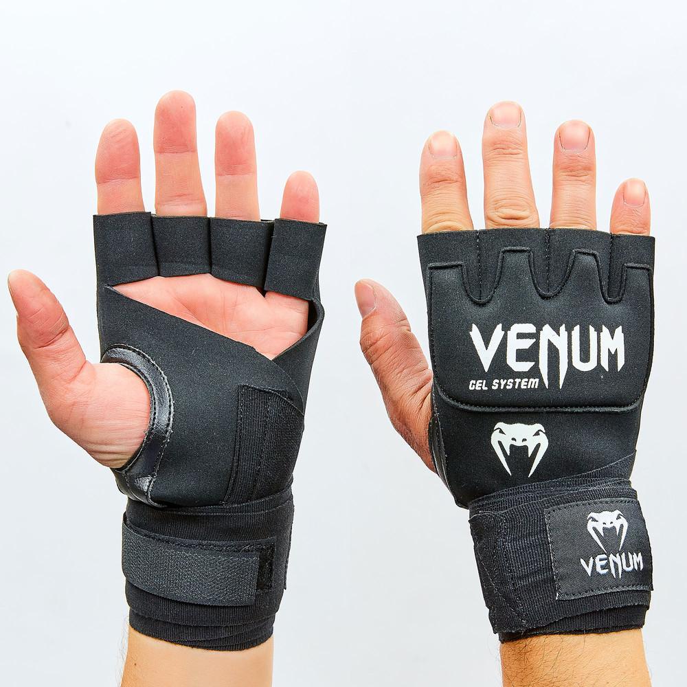 Перчатки с бинтом внутренние гелевые из неопрена kontack gel clove wraps 0181: длина 2,2м фото №1