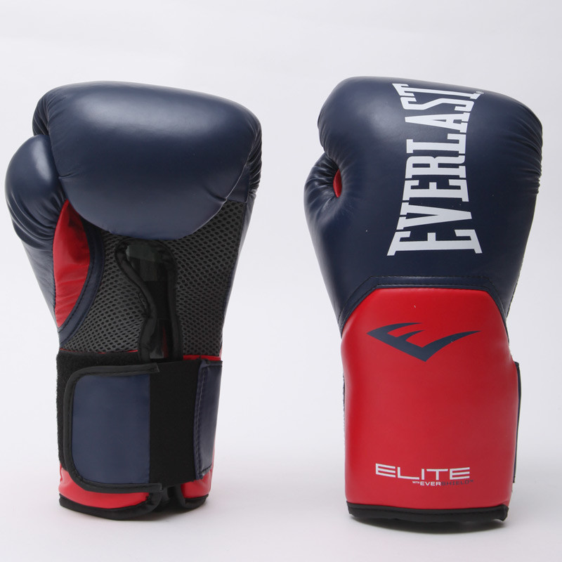 Перчатки боксерские на липучке everlast pro style elite 001203: 14 унций фото №1