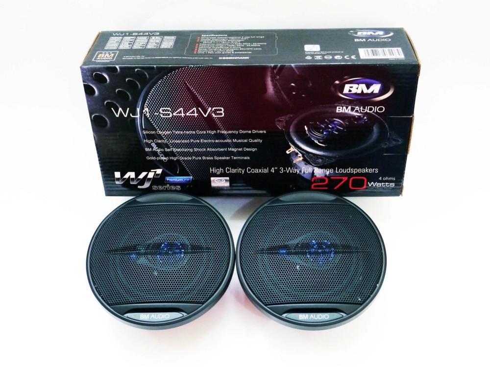 Автоакустика 10см boschmann bm audio wj1-s44v3 270w 3х полосная фото №1