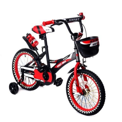 Велосипед двухколесный 16д 1687-16 черно-красный с корзинкой фото №1
