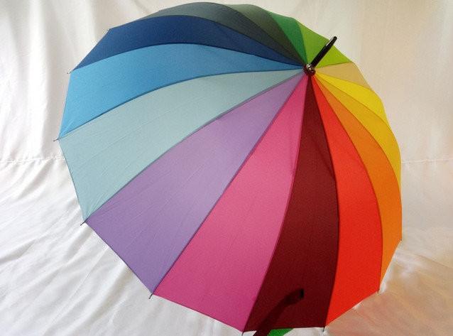 Зонт swifts радужный 16 спиц противоветровый. крепчайшая трость. крепкие стальныеспицы. водооттал фото №1