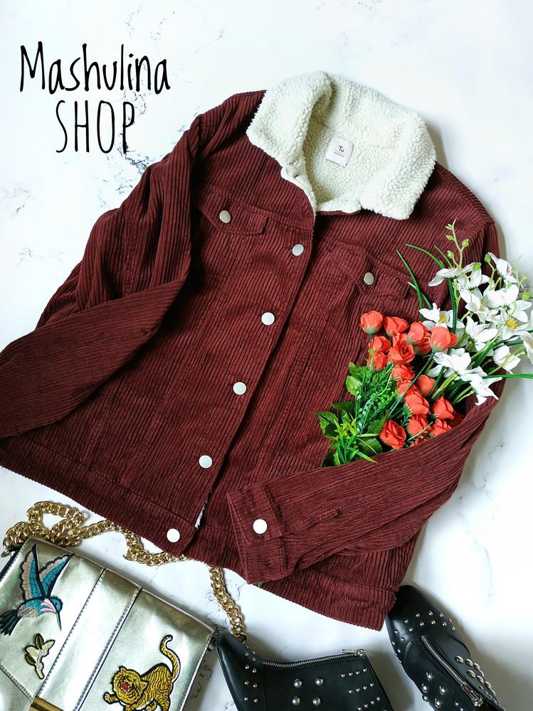 Бронь! актуальная и модная вельветовая куртка фирмы tu фото №1