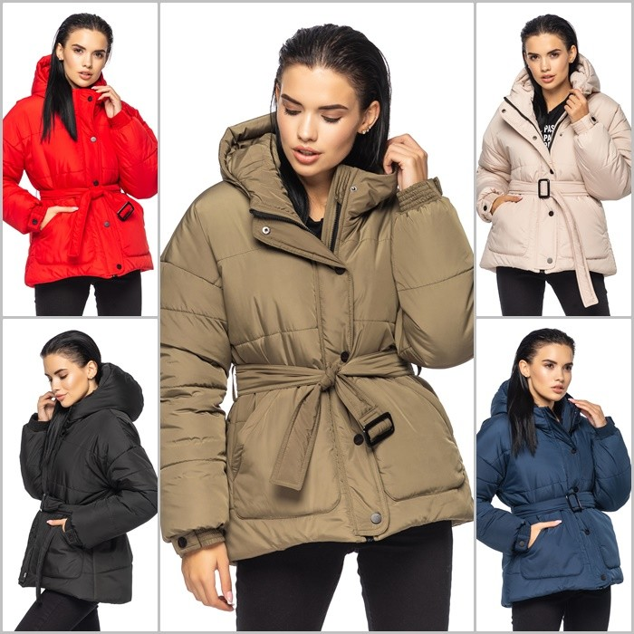Стильная зимняя курточка с глубоким капюшоном, куртка зима фото №1