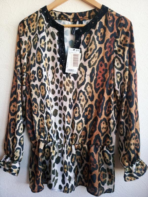 Женская блуза mango в принт фото №1