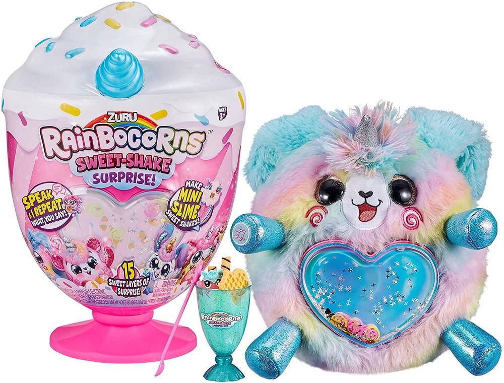 Интерактивная мягкая игрушка щенок zuru rainbocorns plush sweet shake surprise фото №1