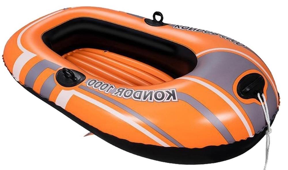 Одномісна надувна лодка. хіт продаж! 155* 97 см. фото №1