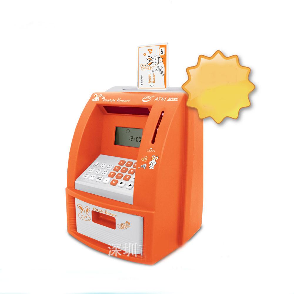 Детская игрушка копилка - банкомат с будильником фото №1