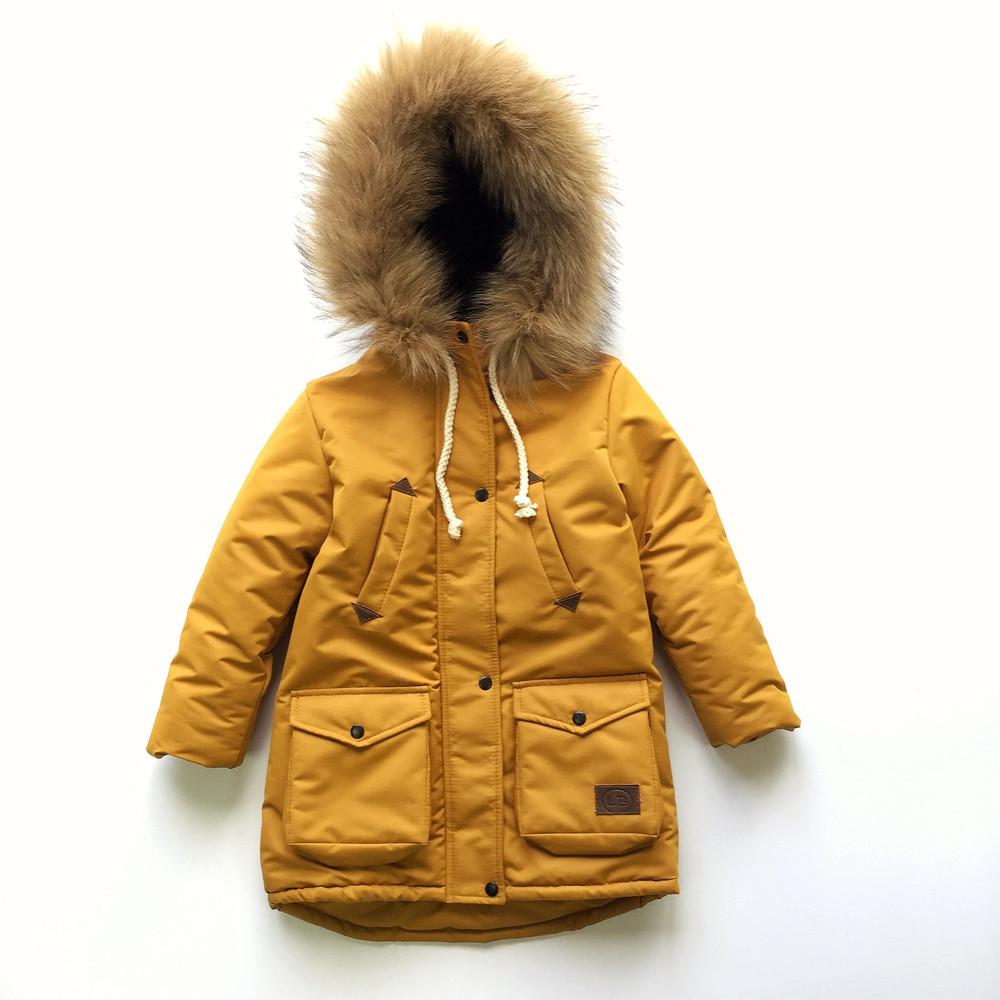 Зимняя куртка парка для девочки фото №1