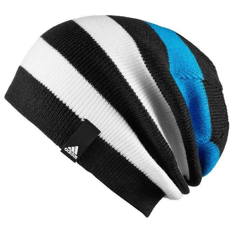 Спортивная шапка adidas striped beanie фото №1