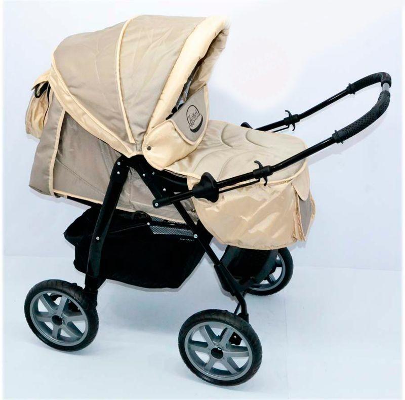 Универсальная коляска-трансформер viki бежевая + чехол фото №1