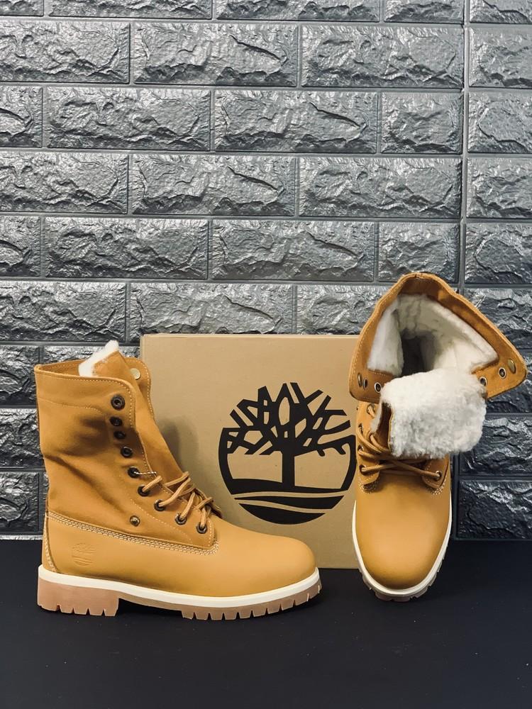Кожа/цегейка натур. зимние женские ботинки timberland распродажа последних размеров -70% фото №1