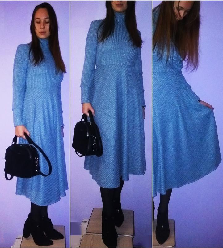 Голубое миди платье! фото №1
