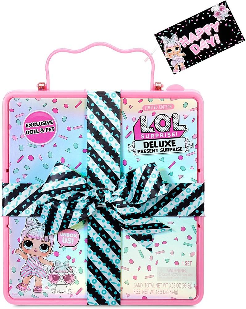 Lol deluxe present surprise подарочный набор лол розовый фото №1