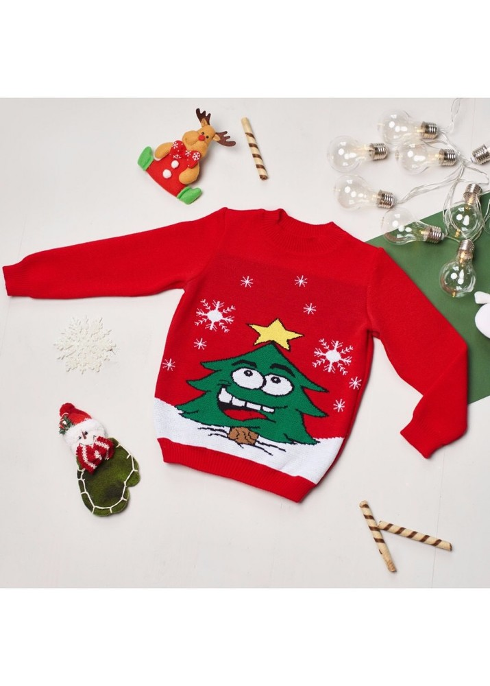 Новогодний детский рождественский свитер фото №1