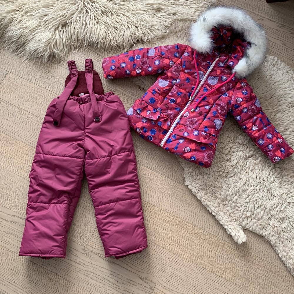 Зимний комбинезон на девочку 3-6 лет, размеры 98-116, 722 фото №1