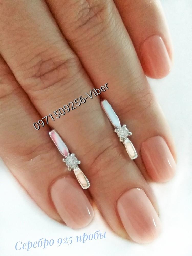 Серебряные серьги, сережки, серебро 925 пробы фото №1