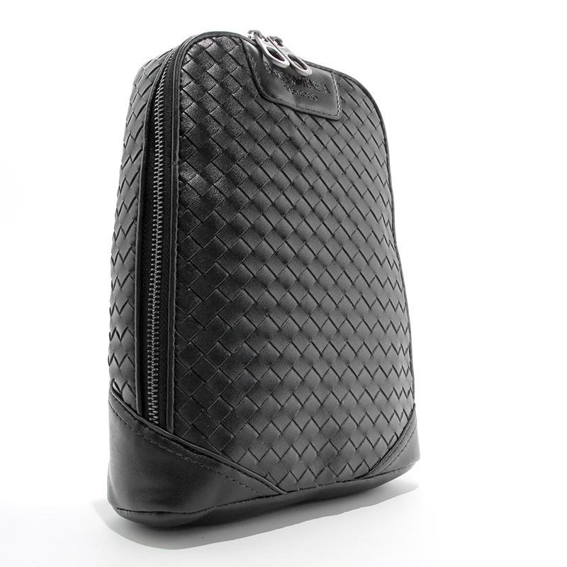 Сумка через плечо, слинг кожаный черный bottega veneta 8090-1 фото №1