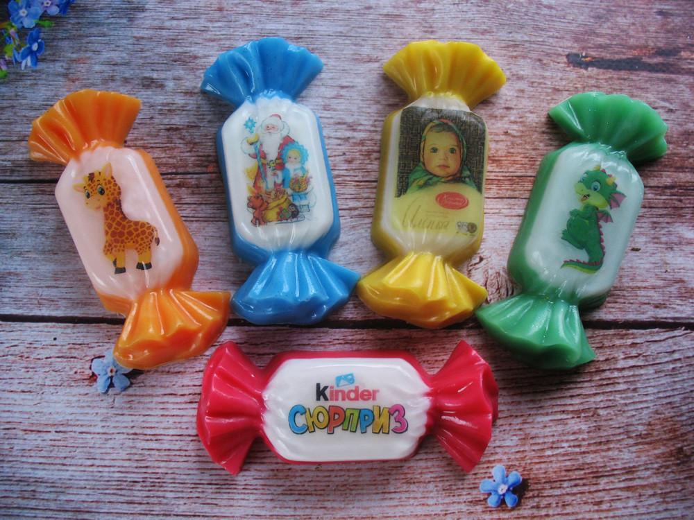 Ароматное яркое мыло ручной работы детское конфетка фото №1