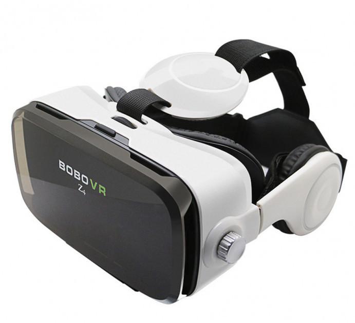 3d очки виртуальной реальности bово vr z4 с наушниками и джойстиком. фото №1